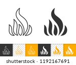fire black linear and... | Shutterstock .eps vector #1192167691