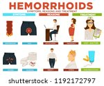 hemorrhoids symptoms reasons... | Shutterstock .eps vector #1192172797