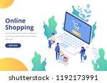 online shopping isometric... | Shutterstock .eps vector #1192173991