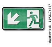 emergency exit to the left below | Shutterstock . vector #1192176967