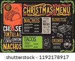 christmas menu template for...   Shutterstock .eps vector #1192178917