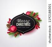 merry christmas background.... | Shutterstock .eps vector #1192188301