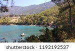 mediterranean forest sea coast  | Shutterstock . vector #1192192537