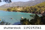 mediterranean forest sea coast  | Shutterstock . vector #1192192561