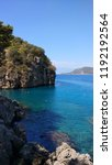 mediterranean forest sea coast  | Shutterstock . vector #1192192564
