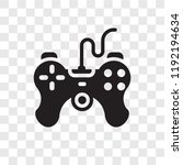 game controller vector icon... | Shutterstock .eps vector #1192194634