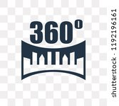 360 degrees vector icon... | Shutterstock .eps vector #1192196161