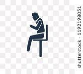 man sitting with headache... | Shutterstock .eps vector #1192198051