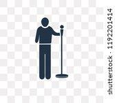 singer with microphone vector...   Shutterstock .eps vector #1192201414