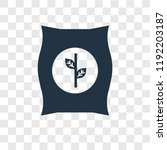 radish vector icon isolated on... | Shutterstock .eps vector #1192203187