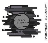 black friday banner background  | Shutterstock .eps vector #1192206394