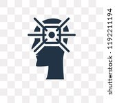 concentration vector icon... | Shutterstock .eps vector #1192211194