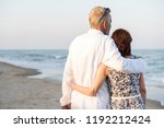a senior couple on the beach | Shutterstock . vector #1192212424