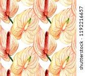 hand drawn watercolor seamless... | Shutterstock . vector #1192216657