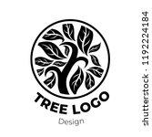 vector stylish floral logo  ... | Shutterstock .eps vector #1192224184