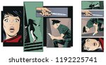 stock illustration. people in... | Shutterstock .eps vector #1192225741