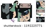stock illustration. people in... | Shutterstock .eps vector #1192225771