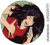stock illustration. girl... | Shutterstock .eps vector #1192225777