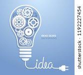 light bulb idea with gears... | Shutterstock .eps vector #1192227454
