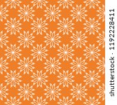 white floral ornament on orange ... | Shutterstock .eps vector #1192228411
