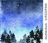 abstract watercolor night... | Shutterstock . vector #1192229344