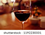 red wine glass serving  ... | Shutterstock . vector #1192230331