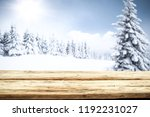 table background and winter...   Shutterstock . vector #1192231027