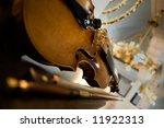 old violin close up   symphony... | Shutterstock . vector #11922313