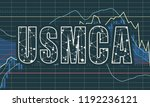 usmca   united states mexico... | Shutterstock .eps vector #1192236121