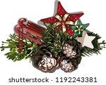 vector christmas fir tree... | Shutterstock .eps vector #1192243381