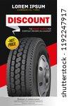 truck tire car advertisement...   Shutterstock .eps vector #1192247917