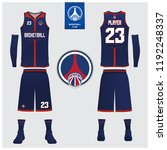 basketball uniform or sport... | Shutterstock .eps vector #1192248337
