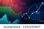 stock market or forex trading... | Shutterstock . vector #1192253947