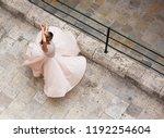 caucasian white dancer ... | Shutterstock . vector #1192254604
