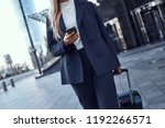 close up of businesswoman with... | Shutterstock . vector #1192266571