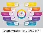 10 steps presentation chart....   Shutterstock .eps vector #1192267114