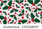 mistletoe berries and twigs... | Shutterstock .eps vector #1192268497