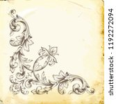 retro baroque decorations... | Shutterstock .eps vector #1192272094