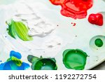 mixed multicolored paints on... | Shutterstock . vector #1192272754