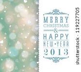 vector elegant christmas card... | Shutterstock .eps vector #119227705