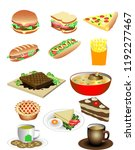 vector various foods... | Shutterstock .eps vector #1192277467