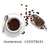 vector 3d realistic cup of... | Shutterstock .eps vector #1192278151
