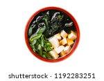 closeup top view image of miso... | Shutterstock . vector #1192283251