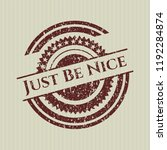 red just be nice rubber stamp | Shutterstock .eps vector #1192284874