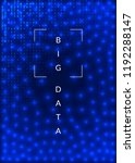 quantum computing background.... | Shutterstock .eps vector #1192288147