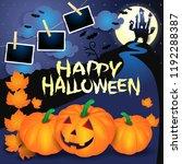 halloween background with... | Shutterstock .eps vector #1192288387