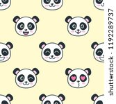 seamless pattern with cute... | Shutterstock .eps vector #1192289737