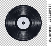 gramophone black vinyl lp... | Shutterstock .eps vector #1192289854