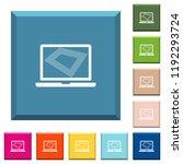 screen saver on laptop white... | Shutterstock .eps vector #1192293724