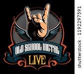 hard rock  heavy metal  sign of ... | Shutterstock .eps vector #1192297591